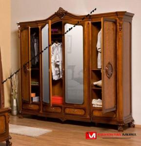 Almari Pakaian Modern Pintu 4 IM290