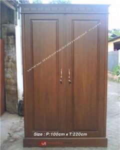 Almari Pakaian Minimalis 2 Pintu