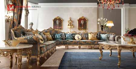Kursi Tamu Sofa Mewah Sudut Istana.