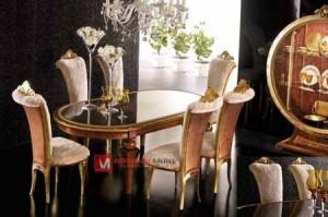 Set Meja Kursi Makan Mewah Elizabeth