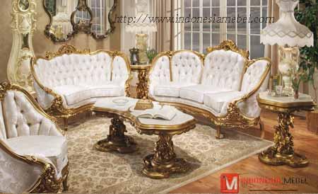 Kursi Tamu Sofa Mewah Victoria Gold