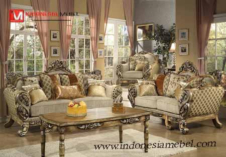 Kursi Tamu Sofa Victorian Fiorenza,kursi tamu ukir mewah.