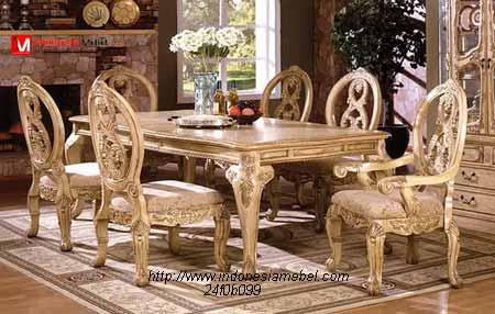 Meja Kursi Makan Mewah,kursi makan ukir.