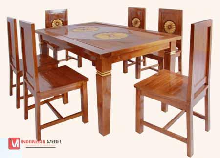 Meja kursi makan minimalis,meja makan 6 kursi.