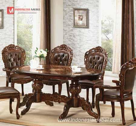 Meja Kursi Makan Ukir Jepara,set meja kursi makan