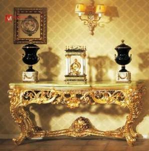 Meja Dinding Mewah Gold