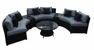 Kursi Sofa Black Grey Curved