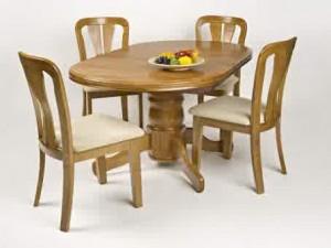 Meja Kursi Makan kayu Jati