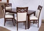 Set Meja Kursi Makan Sofa Putih