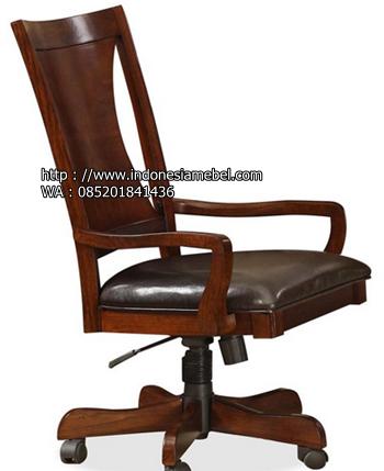 kursi kantor kayu modern klasik IM 996