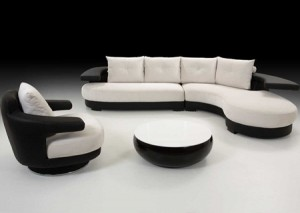 Kursi Sofa Unik Hitam Putih IMJ 004
