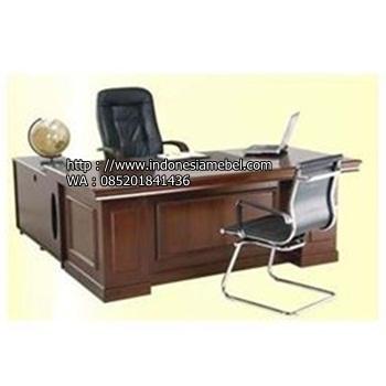 meja kerja jati model L IM 989