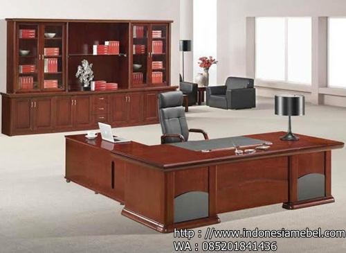 meja kerja minimalis kayu jati jepara IM 987