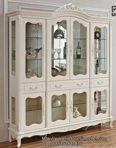 lemari pajangan kaca model ukir IMJ 008