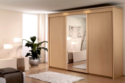 Almari Sliding with Wooden and Mirror IMJ 023