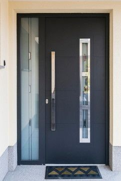 Pintu Utama Minimalis Black Color IMJ 036