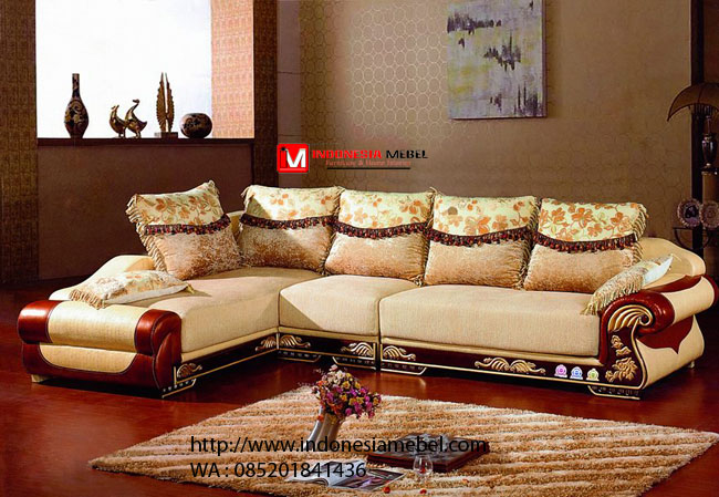 Sofa Tamu Sofa Keluarga Sudut Ukir