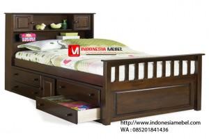 Tempat Tidur Jati Model Laci IMJ 077